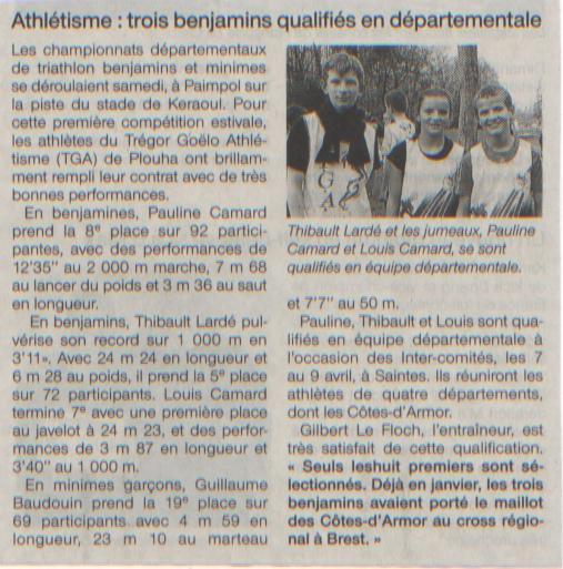 Ouest France triathlon Paimpol