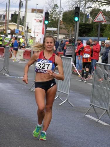 Emilie Menuet sur le 20 km